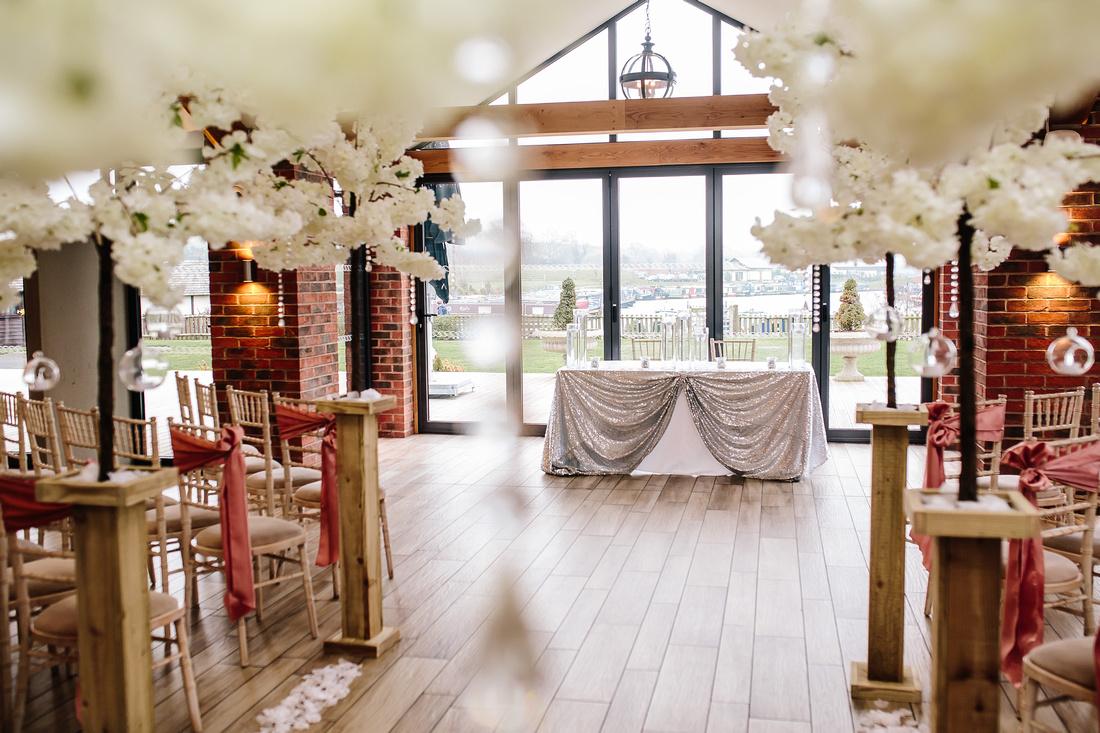 Aston Marina styled for a wedding - Venue Dressing Ideas.