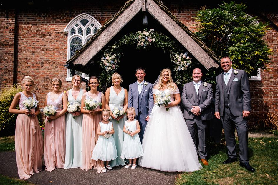 The Oak Tree Of Peover Wedding Photography - Cheshire Wedding Photographer-377